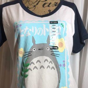 888efdf0 Hot Topic Tops | Nwt Studio Ghibli My Neighbor Totoro White Tshirt ...